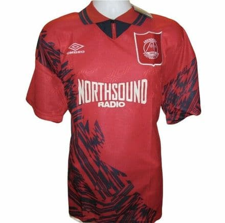 1994-1996 Aberdeen Home Football Shirt, Umbro, Large (**BNWT**)